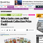 Win a taste.com.au Mini Cookbook Collection Prize Pack!