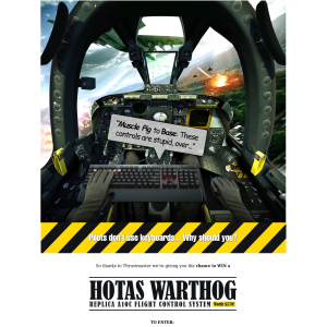 Win a Thrustmaster HOTAS Warthog Replica A10C Flight Control System