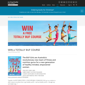 Win A Totally Buf Course