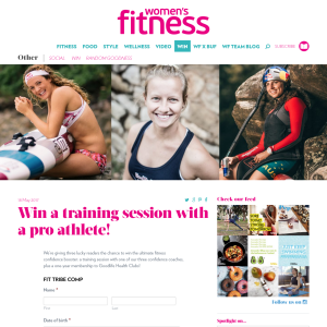 Win a training session with a pro athlete