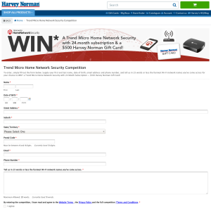 Win a Trend Micro Home Network Security with 24-month subscription + a $500 'Harvey Norman' gift card!