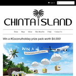 Win a trip for 2 to Bali + a 6 month supply of Chinta Island coconut skin care & H2COCO!