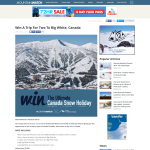 Win a trip for 2 to Big White, Canada!