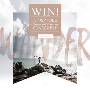 Win a trip for 2 to Bunker Bay!
