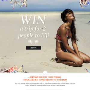 Win a trip for 2 to Fiji!