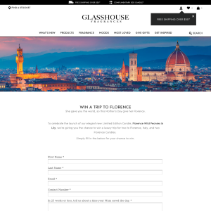 Win a trip for 2 to Florence!