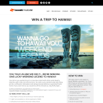 Win a trip for 2 to Hawaii + $2,000 spending money!