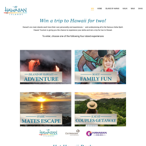 Win a trip for 2 to Hawaii!
