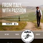 Win a trip for 2 to Italy + Minu coffee machines & Modo Mio capsules to be won daily!