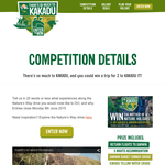 Win a trip for 2 to Kakadu