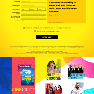 Win a trip for 2 to Miami + $1,000 spending money! (Optus Customers ONLY)