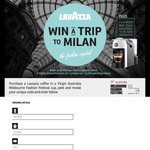 Win a trip for 2 to Milan! (Purchase Required)