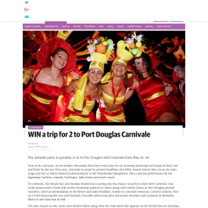 Win a trip for 2 to Port Douglas Carnivale! (VIC Residents ONLY - Requires Codeword)