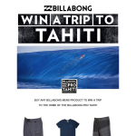 Win a trip for 2 to Tahiti!