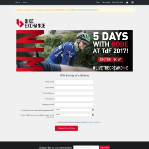 Win a trip for 2 to the 2017 'Tour de France'!
