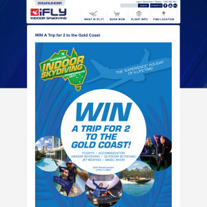 Win a trip for 2 to the Gold Coast