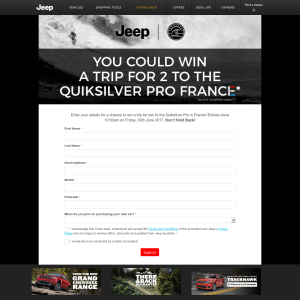 Win a trip for 2 to the Quiksilver Pro France!