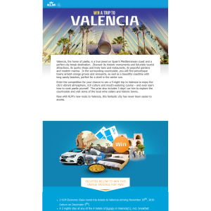 Win a trip for 2 to Valencia!