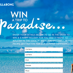 Win a trip for two to Aitutaki, Cook Islands