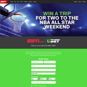 Win a Trip for Two to The NBA All-Star Weekend or 1 of 25 NBA Supporter Packs Worth $12,500