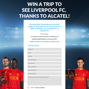 Win a trip to Anfield to see Liverpool FC!