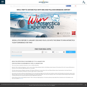 Win a trip to Antarctica with Ibis and Pullman Brisbane Airport