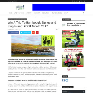 Win a trip to Barnbougle Dunes and King Island