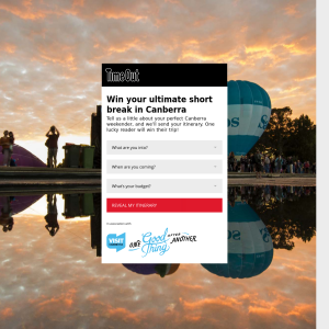 Win a trip to Canberra