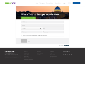 Win a Trip to Europe worth $10k