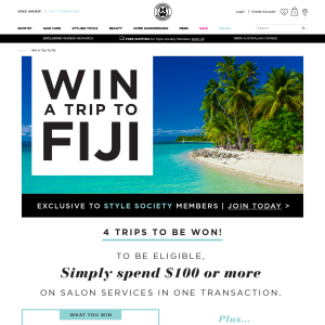 Win a trip to Fiji,plus 1 of 10 $100 vouchers
