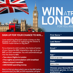 Win a trip to London for you & a friend!