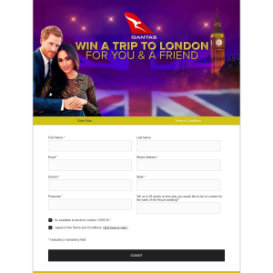 Win a Trip to London for you and a friend