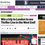 Win a trip to London to see 'Thriller Live' in the West End!