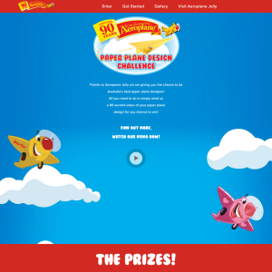 Win a trip to Sydney to compete in the 'National Aeroplane Jelly Paper Plane Fly-Off' + MORE student & school prizes to be won!