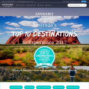 Win a trip to the Australian destination Voted as Number 1