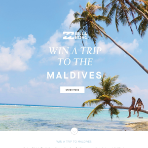 Win a Trip to the Maldives for 2