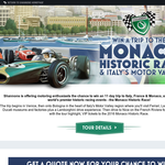 Win a trip to the Monoco historic race & Italy's Motor Valley!