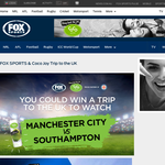 Win a trip to the UK to watch Manchester City VS Southampton!
