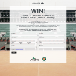 Win a trip tp the French Open 2016 valued at over $12,000!
