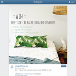 Win a Tropical Palm long bed cushion valued at $198!