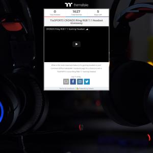 Win a Tt eSPORTS CRONOS Riing RGB 7.1 Gaming Headset