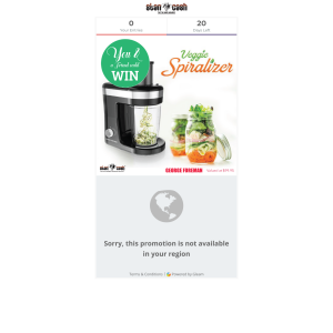Win A Veggie Spiralizer From George Forman
