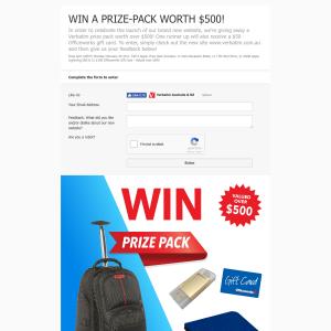 Win a Verbatim prize pack worth $500!