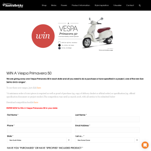 Win a Vespa Primavera 50! (Purchase Required)