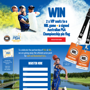 Win a VIP Double Pass to an NBL Game & Signed PGA Championship Pin Flag