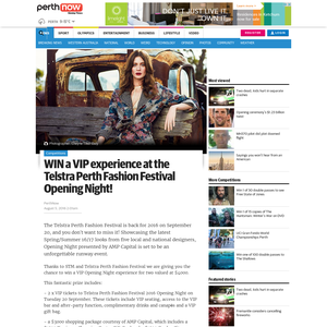 Win a VIP experience at the Telstra Perth Fashion Festival Opening Night!