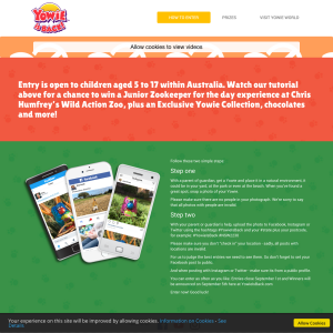 WIN a VIP Junior Zookeeper experience with Yowie