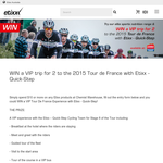 Win a VIP trip for 2 to the 2015 Tour de France!