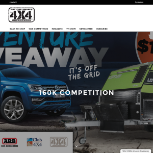 Win a Volkswagen Amarok Ultimate V6, Lotus 14' Off-grid, $5,000 ARB Voucher, $1,000 Club 4X4 voucher + a Pat Callinan's 4X4 Adventures Pack!