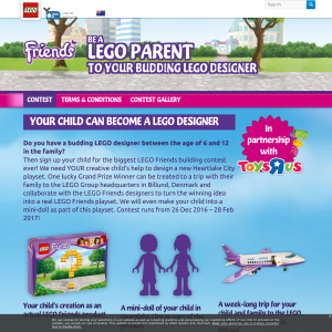 Win a week-long trip for your child & family to the LEGO Group Headquarters in Billund!